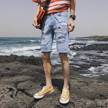 Thin Section Denim Shorts
