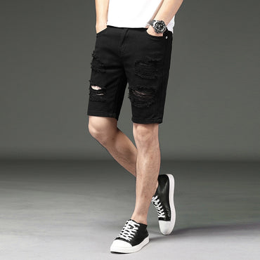 Casual Loose-Fit with Holes Shorts