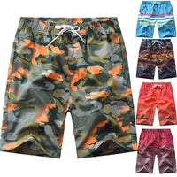 Stripes Camouflage Mixed Colors Printed Shorts