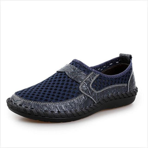 2018 Breathable Genuine Leather Slip On Casual fashion shoes