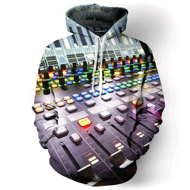 Sweatshirt Music Dj Concert 3D All Over Print Pullover Hoodies