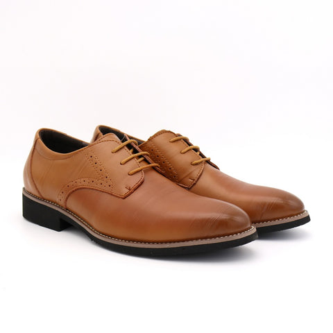 High Quality Oxford Shoes Men Brogues Shoes Lace-Up Bullock Business Dress Shoes
