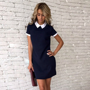 Short Sleeve Office  Short Mini Dress