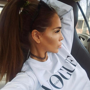 Vogue Sweatshirt Black White Jumper