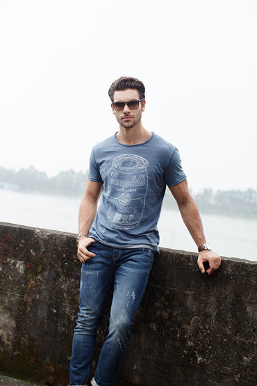 New Pure Cotton T shirt Man's O-neck Short Sleeve T shirts
