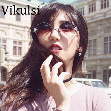 Oculos Shade Frame Retro Arrow Mirror Sun Glasses