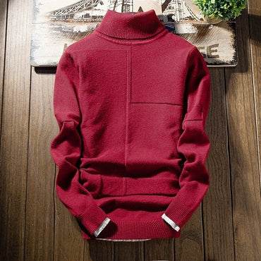 Winter Turtleneck Cashmere Sweater Long Sleeve Slim Fit Student Warm Pullover