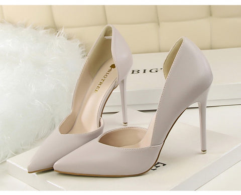 Fashion High Heels Shoes Black Pink  bridal Wedding Shoes Ladies