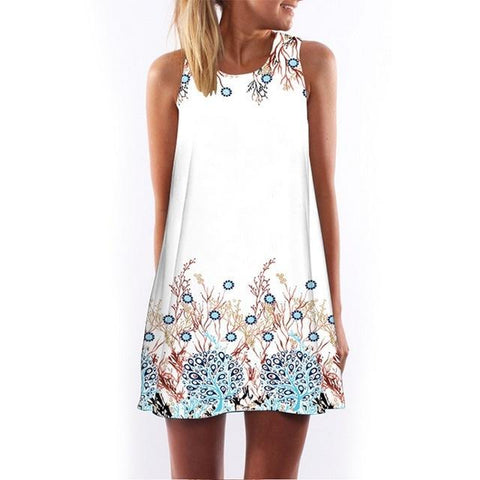Sleeveless Heart Print