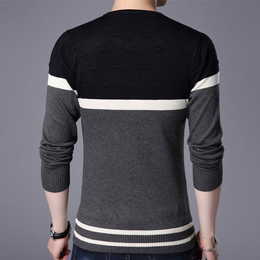 Pullover Sweater V Neck Casual Slim Fit Sweaters Long Sleeve Pullover Tops