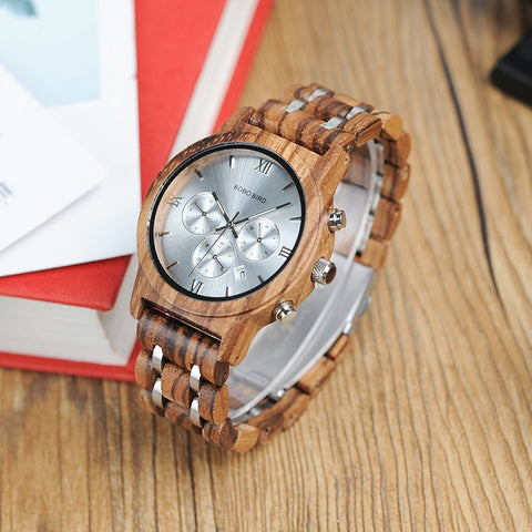 High Quality Fashion Top Luxury Brand Sport Watches Wood