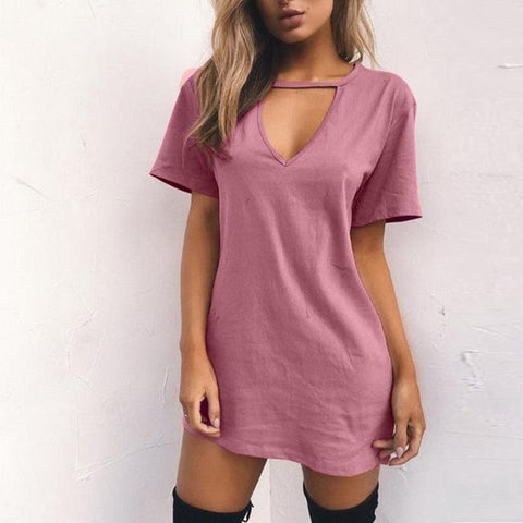 V Neck Cotton Summer