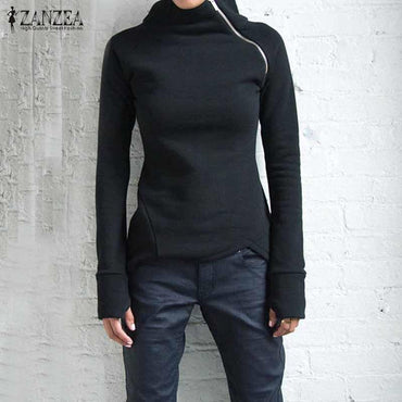 Solid Long Sleeve Turtleneck