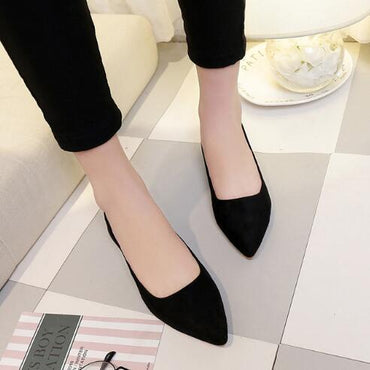 Basic Mixed Colors Pointy Toe Ballerina Ballet Flat Shoes