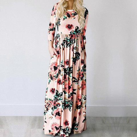 Long Dress Floral Print - GaGodeal