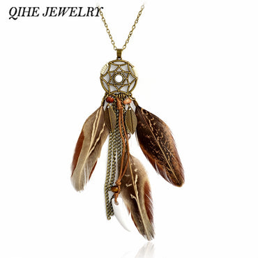 Pendant Brown  Boho Gypsy Bohemian Hippie Jewelry