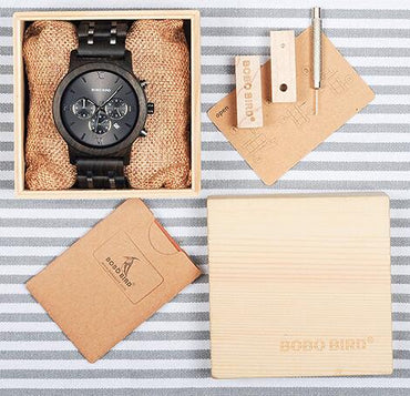Luxury Stop Watch Color Optional with Wood