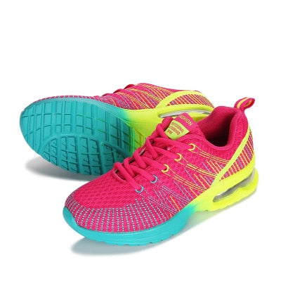 New Sports Ladies Shoes Walking Breathable Mesh Flat Shoes