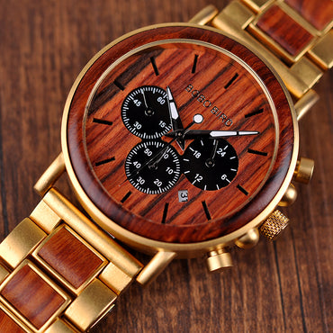 Watches Stopwatch Wooden Wristwatches