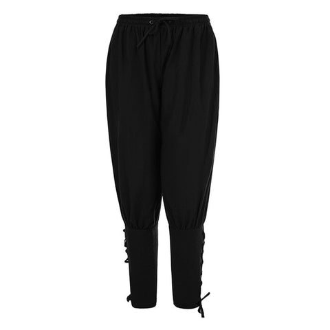 Ankle Lace-up Banded Pants