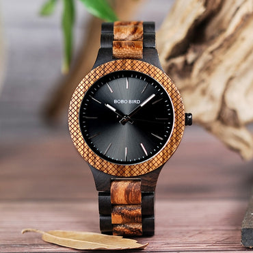 Watches Retro Zebra Wooden Quartz Wristwach
