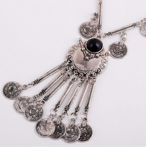 Fashion Vintage Boho Antique Coin Necklace f Bohemian Maxi Jewelry