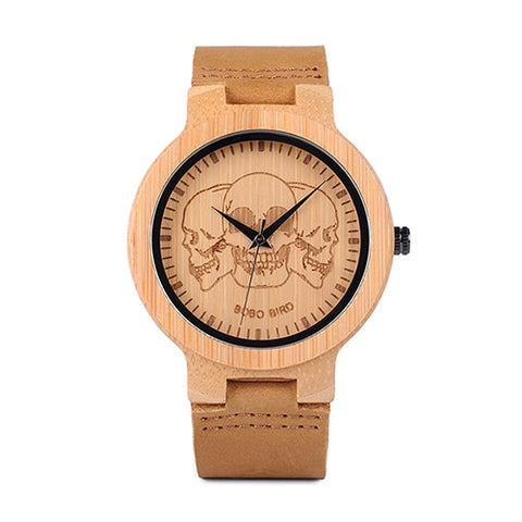 Watch  Wooden Lifelike Print Dial Face Quartz Watches