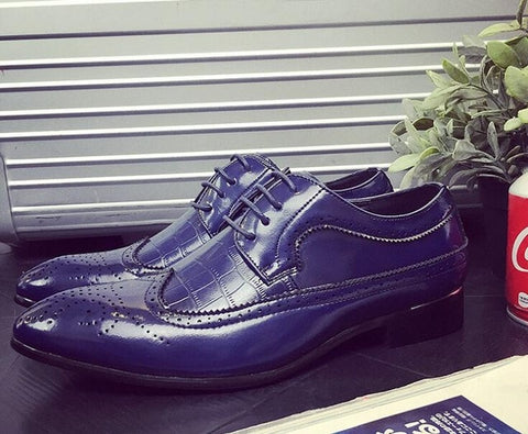 High Quality Casual Flat Shoes Leather Mens Designer Shoes Party Business Men Bullock Dress Oxfords  Shoes