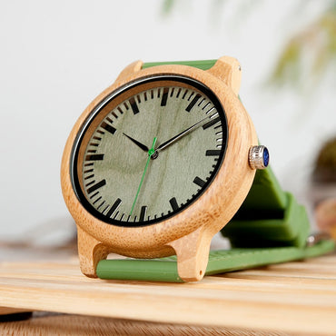 Bamboo Wooden Watch Quartz Watch