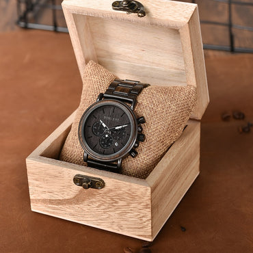 Wood Top Brand Luxury Stylish Chronograph Military Watches