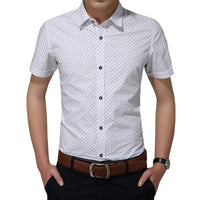 Turn down collar casual Short Sleeve shirt