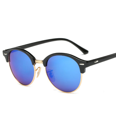 Classic Round Mirror Fashion Rays Sunglasses  UV Protect 100% UV400 Rivet Sun Glasses