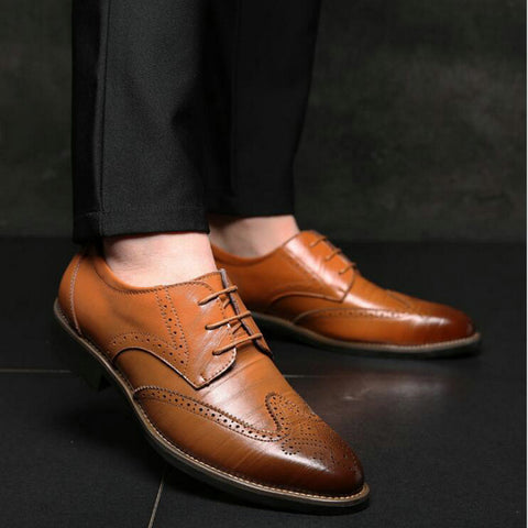 Luxury Brand Men Oxfords Shoes Wedding Party Brogue Shoes Men Dress Shoes Genuine Leather Formal Business shoes