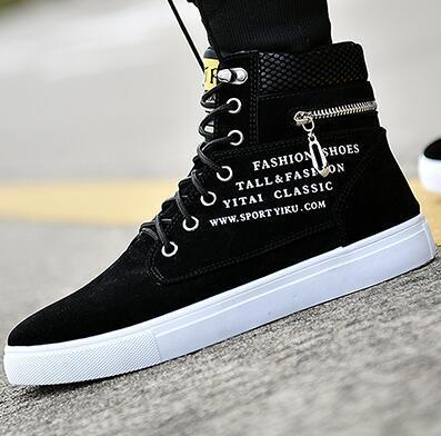 High Top Casual fashion shoes  Zapatos Hombre Fashion Flats fashion shoes