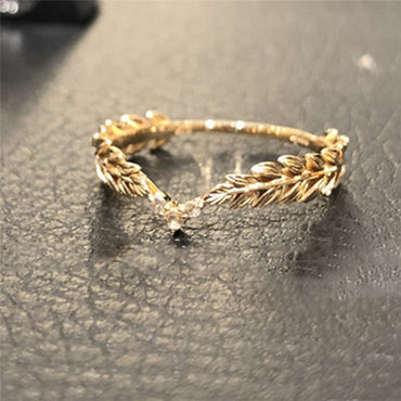 Wheat Rings Golden Finger Ring