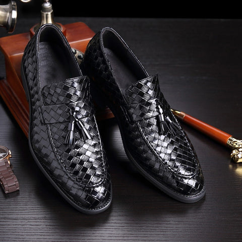 New luxury brand fashion Men tassel loafers  shoes leather italian formal dress office footwear oxford shoes
