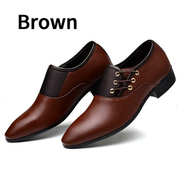 Black Classic Point Toe Oxfords For Men Fashion Mens Business Party Shoes