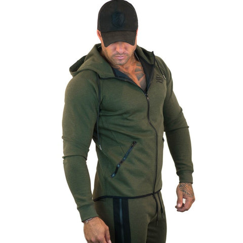 Solid Color Slim Fit High Street Hoodies