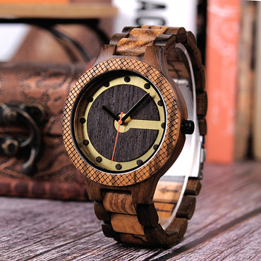 Wood Watches Sport Dial Design  Quartz Wristwatch