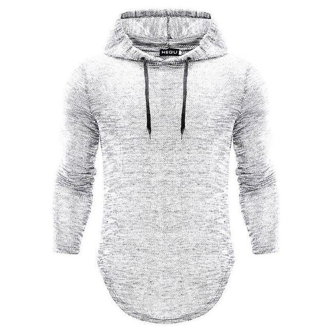 Long Sleeve Hooded Cotton Casual Men Bodybuilding Hoodie