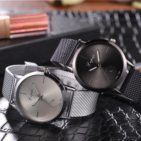 Famous Brand Gold Silver Casual Quartz Watch