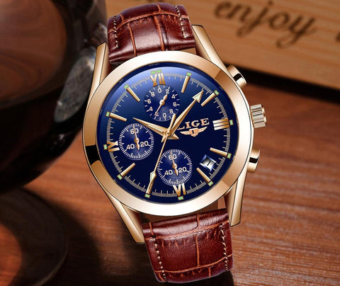 Sport Quartz Fashion Leather Clock Mens Watches Top Brand Luxury Waterproof Business Watch