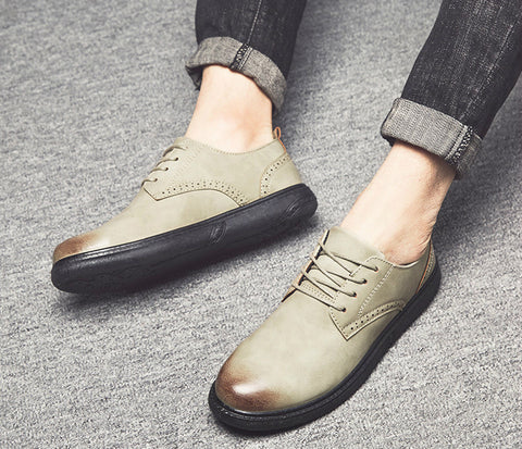 New Oxfords Derby Brogue Shoes Basic Dress Formal Shoes Fashion Leather Europe Luxury Gentry Style