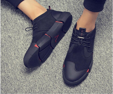 High quality  leather casual shoes Fashion Breathable Sneakers fashion flats