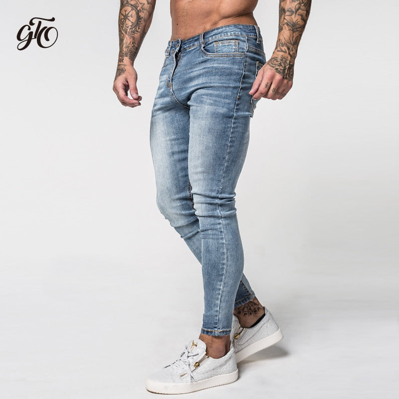 6a6827d6b4 Gingtto Skinny Jeans Stretch Light Blue Ripped Denim Jeans ...