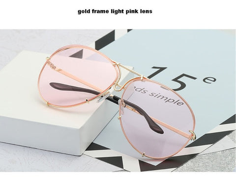 Oversized Aviation Sunglasses Women