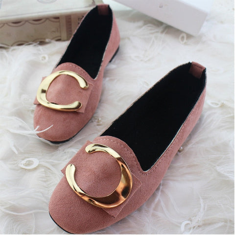Shallow Candy Color Flat Shoes