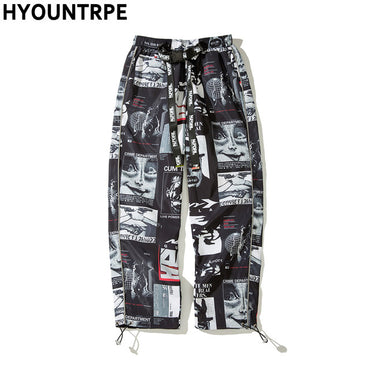 Graphic Printed Track Pants
