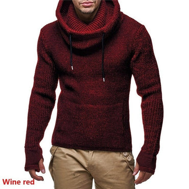 turtleneck Sweaters Male High Street Solid Color Sweaters