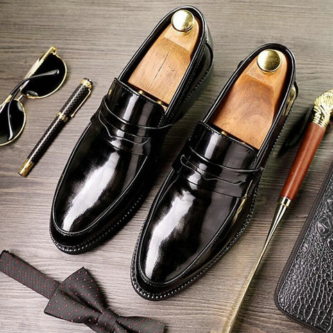 Leather Luxury Fashion Wedding Shoes Men Oxford Shoes D